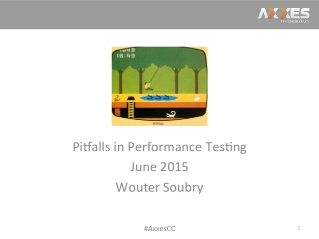 Click  to  edit  Master  /tle  style   Pi2alls  in  Performance  Tes/ng   June  2015   Wouter  S...