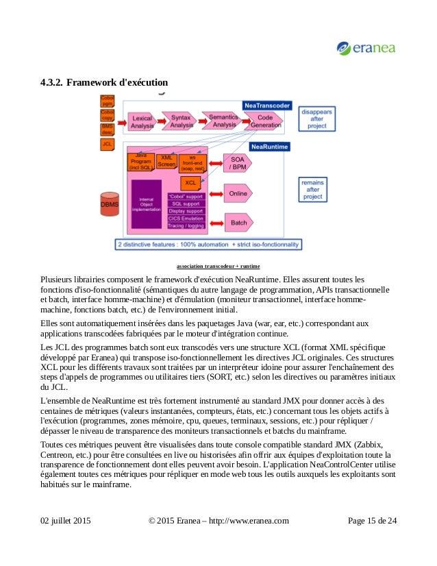 4.3.2. Framework d'exécution association transcodeur + runtime Plusieurs librairies composent le framework d'exécution Nea...