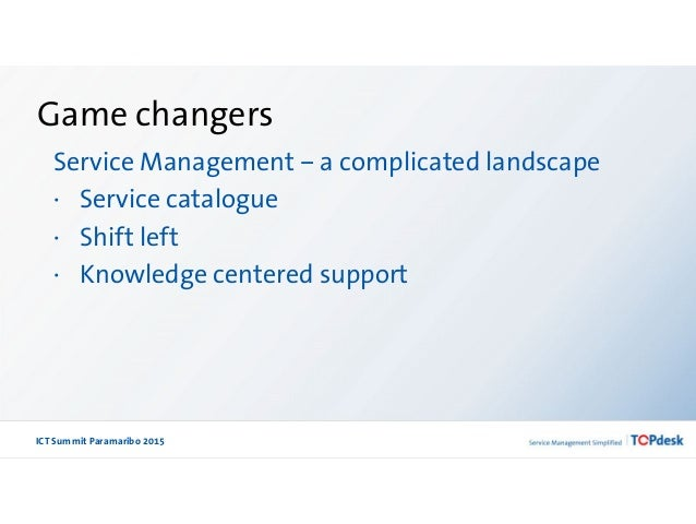 Game changers in ITSM by Annemarie Wolfrat Slide 3