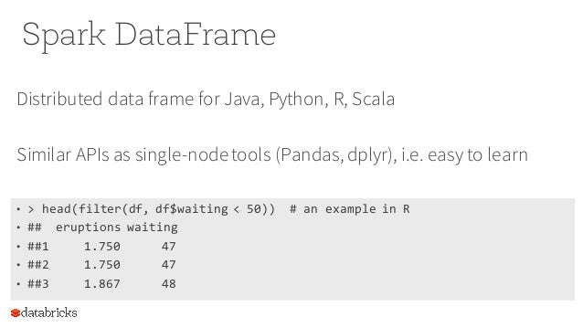 DataFrame: Spark\'s new abstraction for data science by Reynold Xin of…