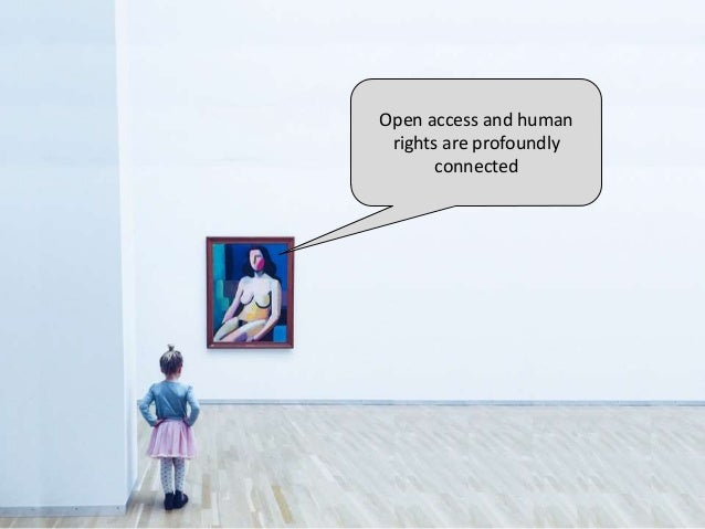 Open access and human rights are profoundly connected