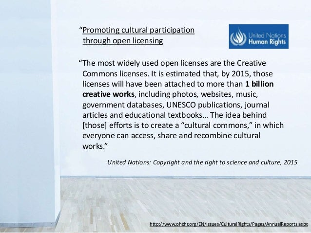 """""""The most widely used open licenses are the Creative Commons licenses. It is estimated that, by 2015, those licenses will ..."""