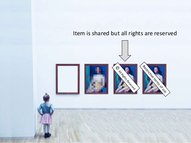 Item is shared but all rights are reserved
