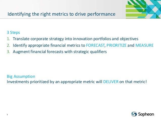 Financial Metrics to Drive Strategic Portfolio Performance  Slide 3