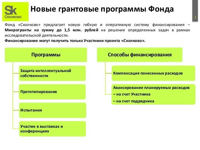 Микрогранты Сколково Slide 2