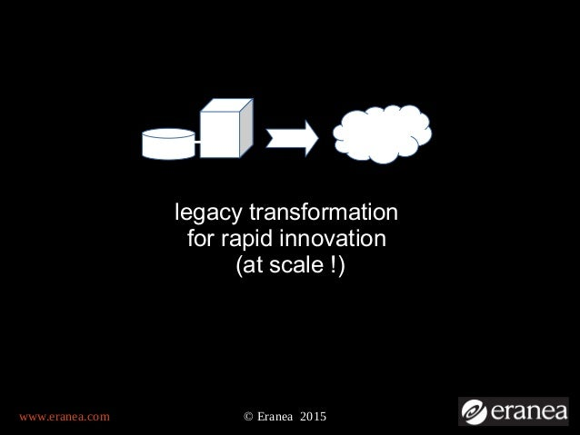 www.eranea.com © Eranea 2015 legacy transformation for rapid innovation (at scale !)