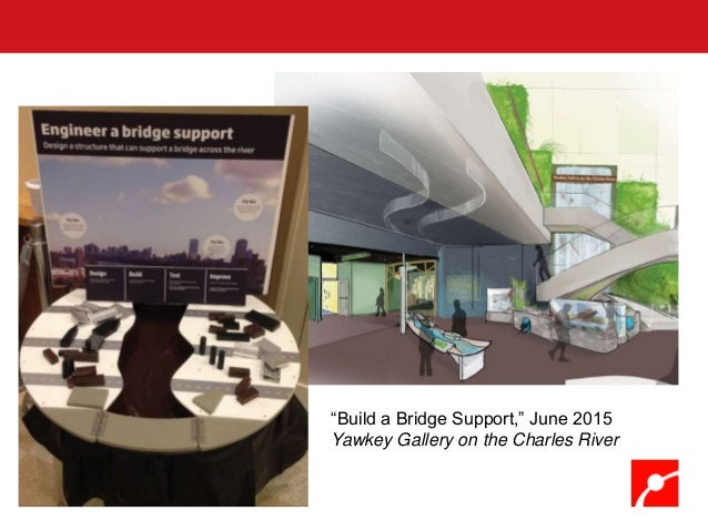 """""""Build a Bridge Support,"""" June 2015 Yawkey Gallery on the Charles River"""