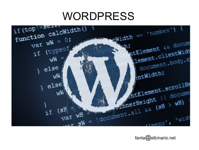 WORDPRESS fanta@elbinario.net