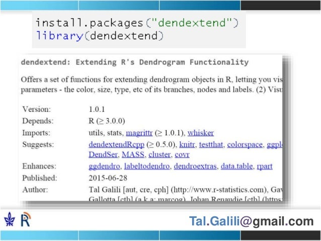 jsm2015: the dendextend R package