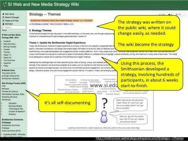 http://www.slideshare.net/edsonm/michael-edson-the-smithsonian-web-and-new-media- strategy-what-it-is-how-we-made-it-and-w...