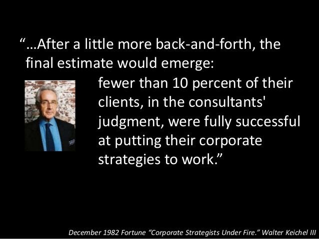 """""""…After a little more back-and-forth, the final estimate would emerge: December 1982 Fortune """"Corporate Strategists Under ..."""