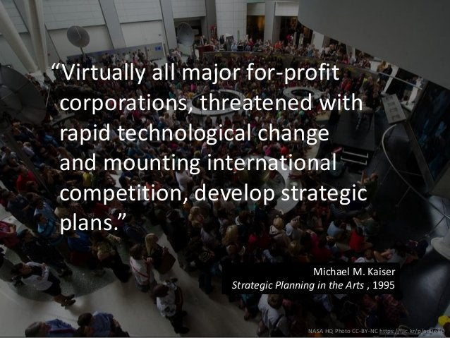 """NASA HQ Photo CC-BY-NC https://flic.kr/p/adDe8D """"Virtually all major for-profit corporations, threatened with rapid techno..."""