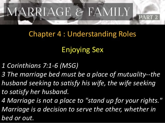 Understanding wife and sex
