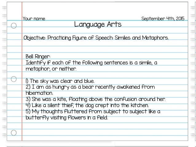 Figure of speech practice – Figures of Speech Worksheet