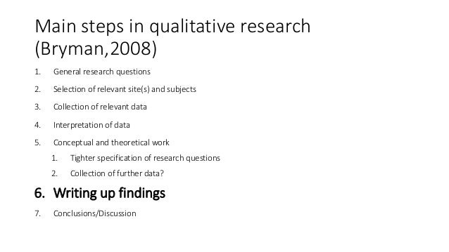 Help for writing qualitative research findings