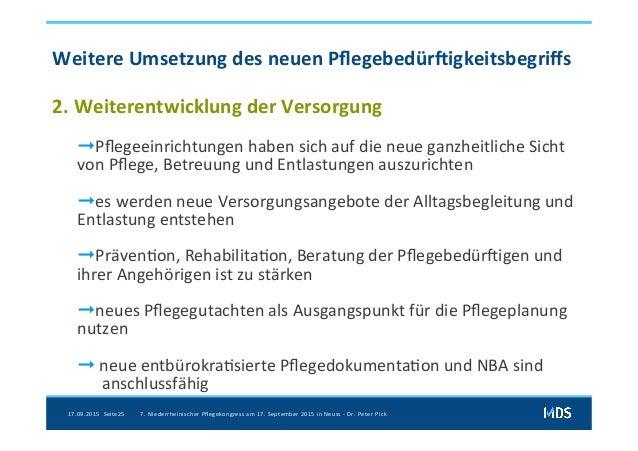 NPK2015 - Dr.Pick: Das neue Begutachtungsassssment