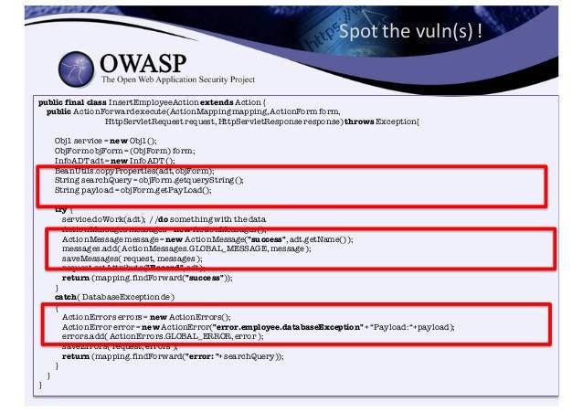 OWASP Java Encoder Project https://www.owasp.org/index.php/OWASP_Java_Encoder_Project • No third party libraries or...