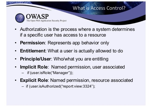 Never  Depend  on  Untrusted  Data • Never  trust  request  data  for  access  control  decisions • ...