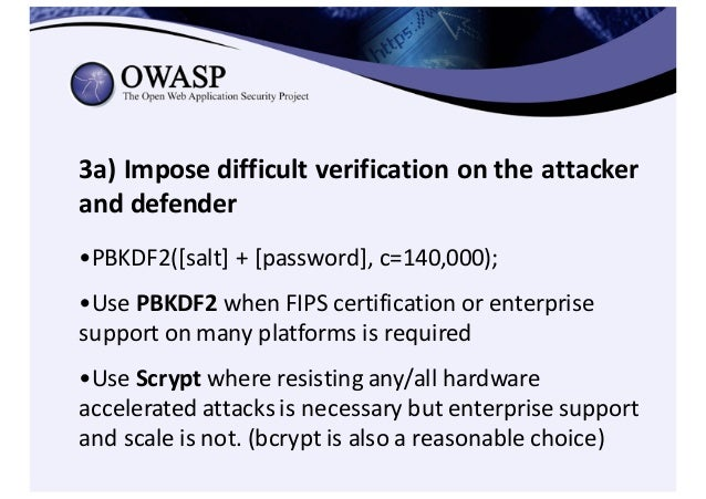 Encryption in Transit (HTTPS/TLS) • HTTPS configuration best practices – https://www.owasp.org/index.php/Transport_L...