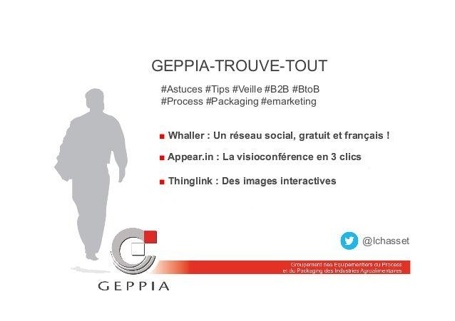 GEPPIA-TROUVE-TOUT #Astuces #Tips #Veille #B2B #BtoB #Process #Packaging #emarketing ■ Whaller : Un réseau social, gratuit...