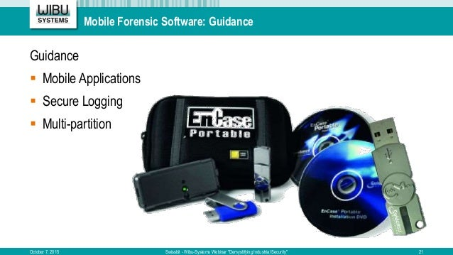 Mobile Forensic Software: Guidance Guidance  Mobile Applications  Secure Logging  Multi-partition October 7, 2015 Swiss...