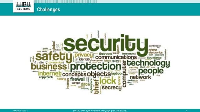 "Challenges October 7, 2015 Swissbit - Wibu-Systems Webinar ""Demystifying Industrial Security"" 4"