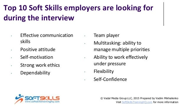 Top 10 Soft Skills For Interview Success