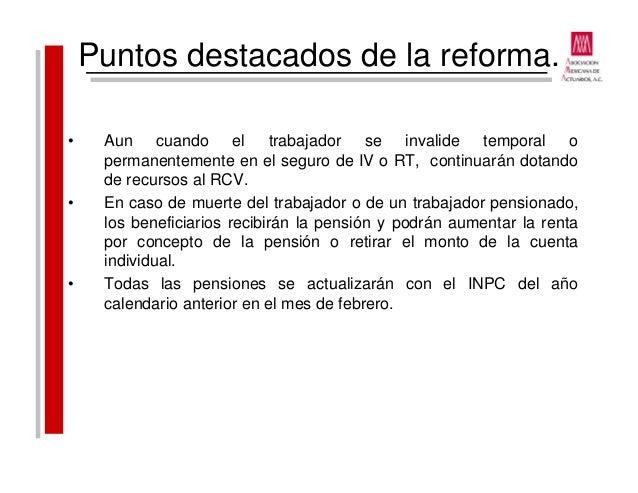 2015 10 13 reformas a la ley del issste peregrino - Se cobra la pension el mes de fallecimiento ...