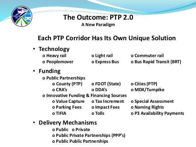 PTP 2.0 Innovative Funding Solutions