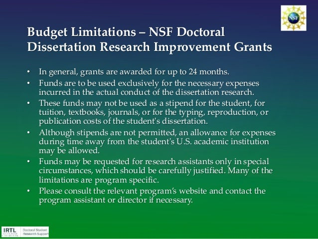 nsf sociology dissertation improvement Once the sociology program – doctoral dissertation research improvement awards solicitation number is selected, the nsf unit of consideration should automatically be populated with ses-sociology –ddri you should not select additional programs because the sociology program does not co-review ddri proposals.