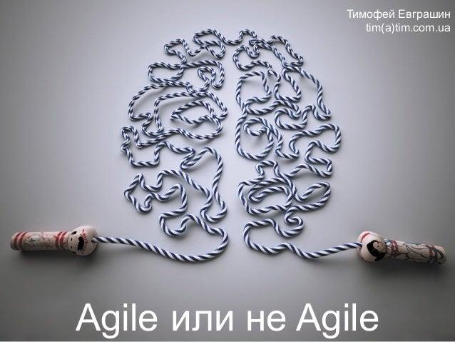 Agile или не Agile Тимофей Евграшин tim(a)tim.com.ua