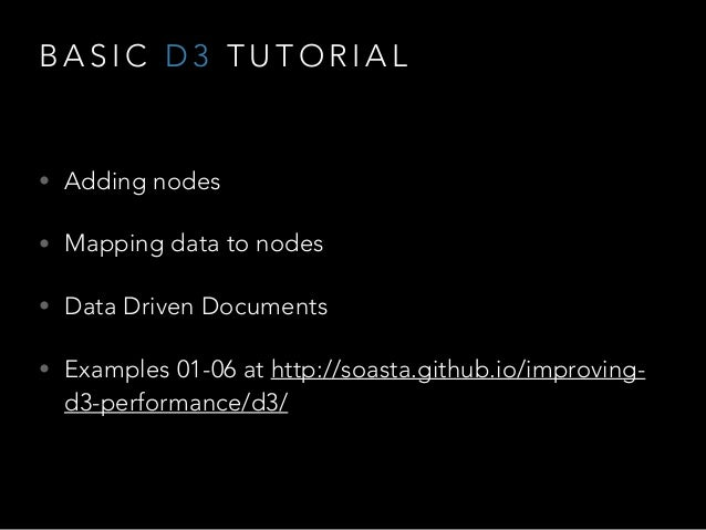 Improving D3 Performance with CANVAS and other Hacks