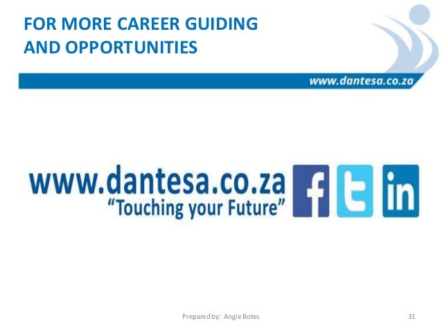 GO BE THE SUPERHERO YOU WERE MEANT TO BE Prepared By: Angie Botes 30; 31.  FOR MORE CAREER ...