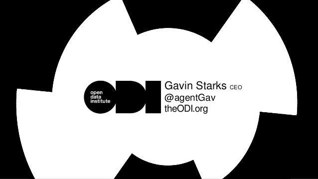Gavin Starks CEO @agentGav theODI.org