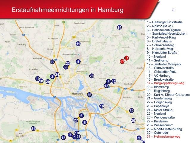 Freie und Hansestadt Hamburg Erstaufnahmeeinrichtungen in Hamburg 8 1 1 – Harburger Poststraße 2 – Nostorf (M.-V.) 3 – Sch...