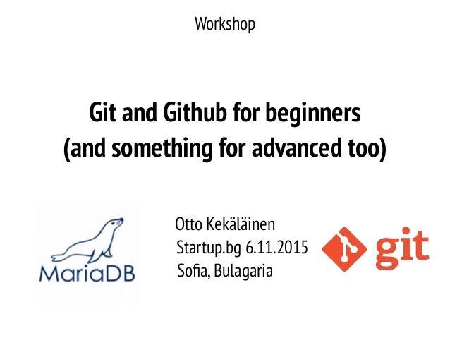 Git and Github workshop