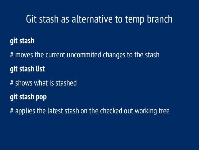 git stash meaning