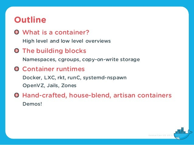 Cgroups, namespaces, and beyond: what are containers made from? (DockerCon Europe 2015) Slide 3