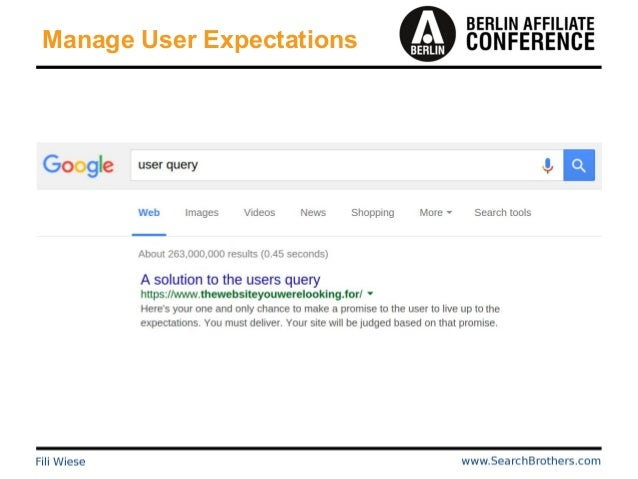 Manage User Expectations