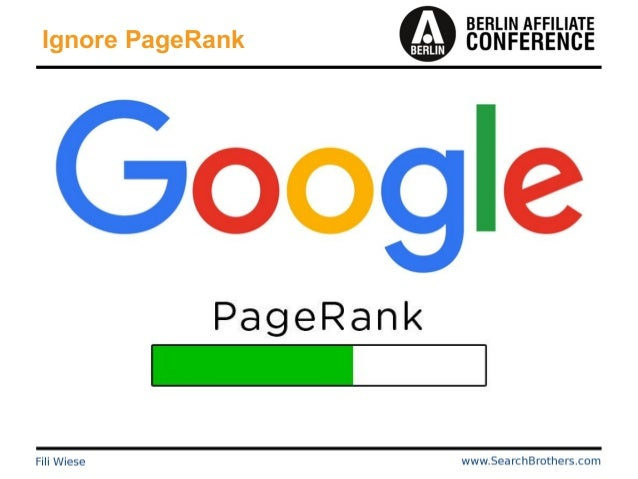 Ignore PageRank