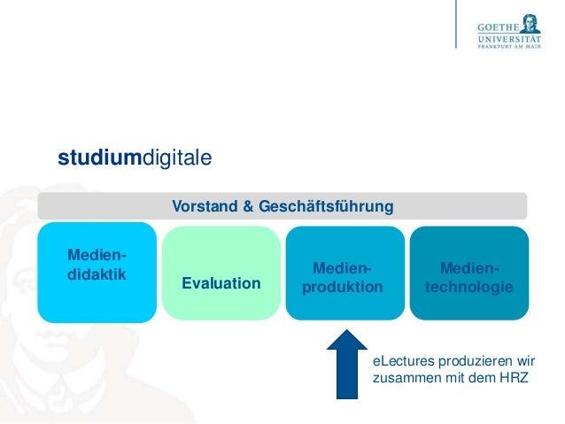 studiumdigitale Medien- didaktik Medien- produktion Medien- technologie Vorstand & Geschäftsführung Evaluation eLectures p...
