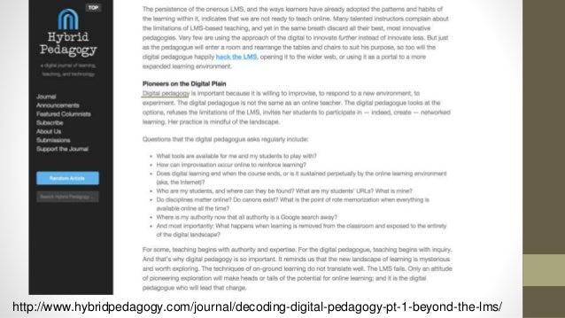 http://gettingsmart.com/2015/02/beyond-lms-next-gen-learning-platforms/ • Weak demand articulation (i.e., slow shift to di...