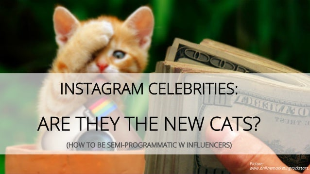 INSTAGRAM CELEBRITIES: ARE THEY THE NEW CATS? (HOW TO BE SEMI-PROGRAMMATIC W INFLUENCERS) Picture: www.onlinemarketingrock...