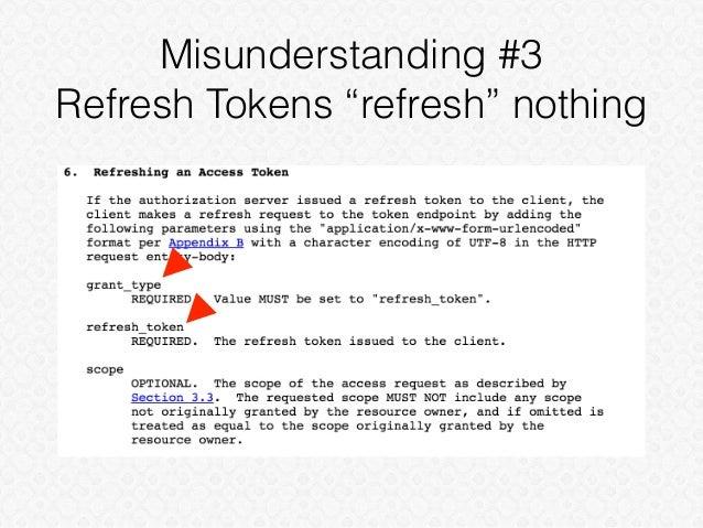 """Misunderstanding #3 Refresh Tokens """"refresh"""" nothing"""