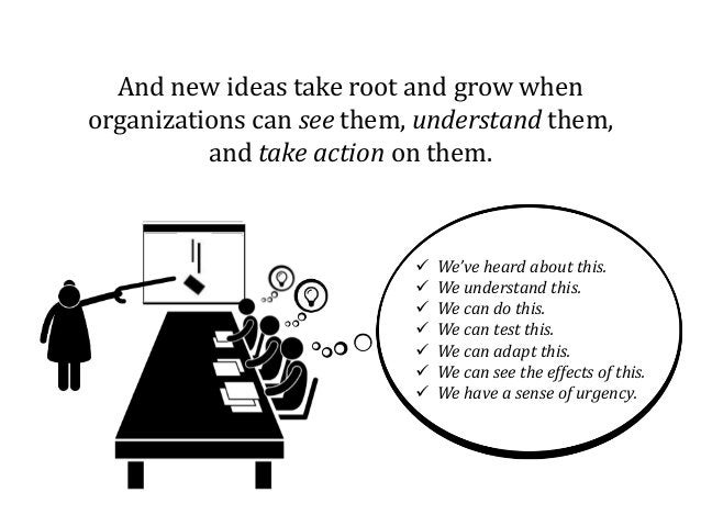 And new ideas take root and grow when organizations can see them, understand them, and take action on them.  We've heard ...