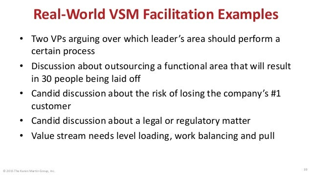 Real-World MBPM Facilitation Examples • Frontline team member begins to recognize that the work he does is 100% non-value-...