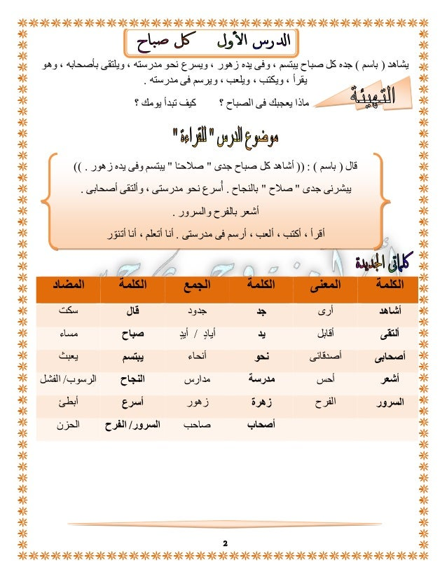 بوكلت اللغة العربية الصف الثانى الابتدائى الفصل الدراسى الأول 2015 أمنية وجدى Slide 3