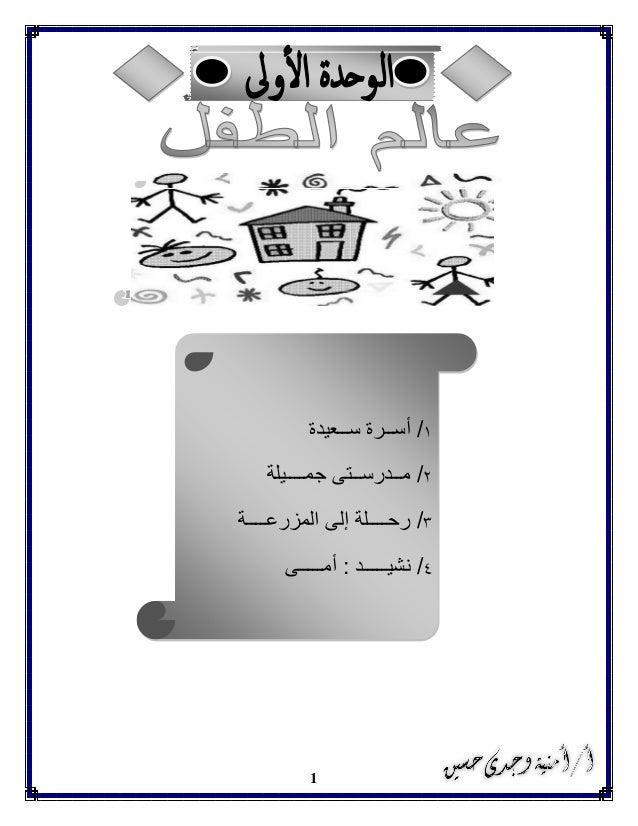 بوكلت منهج اللغة العربية الصف الأول الابتدائى المعدل بالقرائية الترم الثانى 2015 أ.أمنية Slide 2