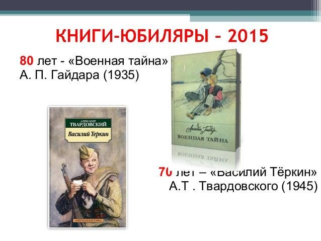 135 лет - «Приключения Пиноккио» К. Коллоди (1880) 150 лет – «Приключения Алисы в стране чудес» Л. Кэрролла (1865) 60 лет ...