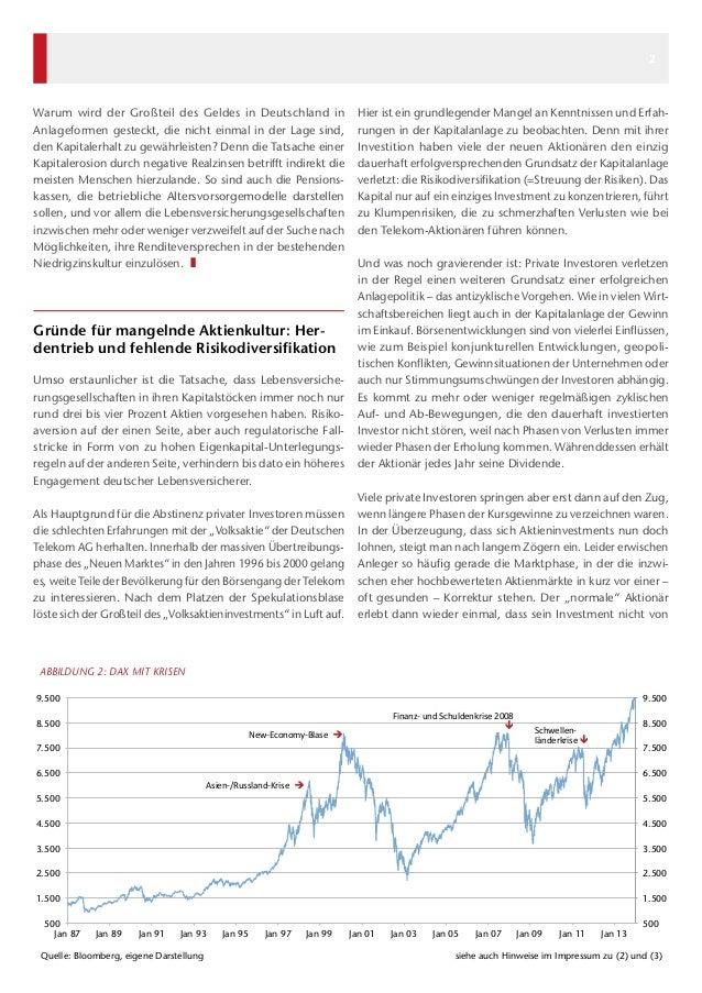 Warum wird der Großteil des Geldes in Deutschland in Anlageformen gesteckt, die nicht einmal in der Lage sind, den Kapital...